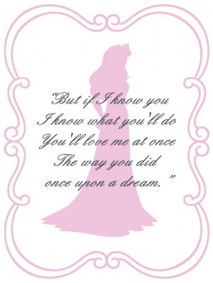 Sleeping Beauty Aurora quote card - Steven's proposal to me 11/11/00