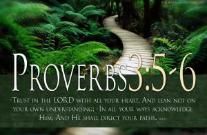 Bible Verses Trust GOD Proverbs 3:5-6 Landscape Christian HD Wallpaper