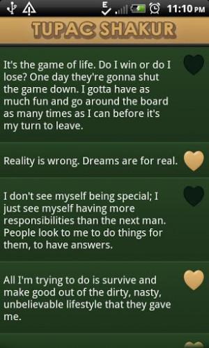 View bigger - Tupac Shakur Quotes Says for Android screenshot