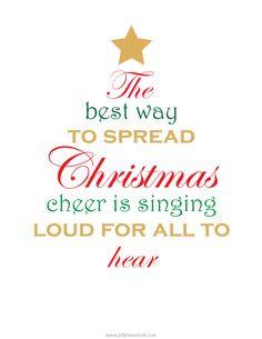 Christmas quote. Free printable
