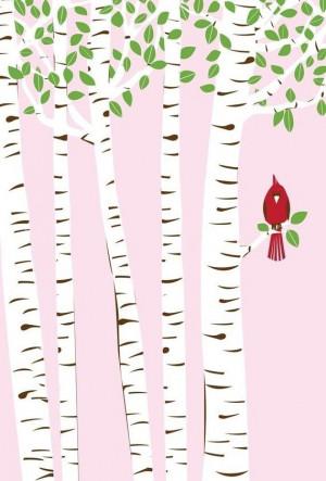 BirchBirds Art, Birches Trees Art, Summer Cardinals, Art Prints, Rocks ...