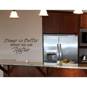 TOGETHER Vinyl wall art Kitchen quotes Family sayings home decor decal