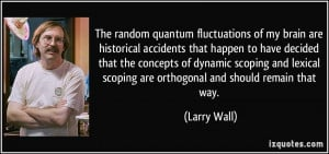 quantum fluctuations of my brain are historical accidents that happen ...