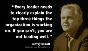 Every leader needs to clearly explain the top three things the ...
