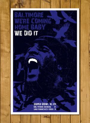 Baltimore Ravens - Ray Lewis Super Bowl Poster (11 x 17