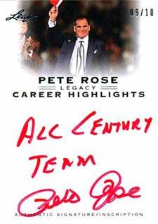 Pete Rose Signings In 2013
