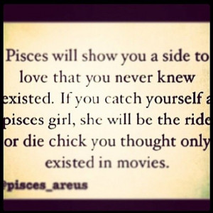 Pisces... Too bad nobody has caught this Pisces grl!!!