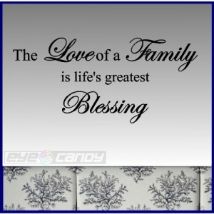 ... of a family...Wall Lettering Family Wall Words Quotes Sayings Decals