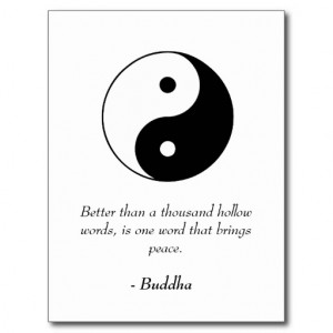 Famous Buddha Quotes - Hollow Words and Peace Postcard