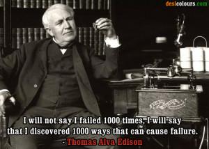 Picture of Thomas Alva Edison Quotes