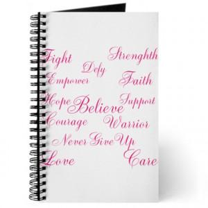 cancer journals spiral notebooks breast cancer words of inspiration ...