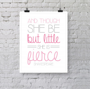 Little Girl Quotes And Sayings Girl's nursery print - and