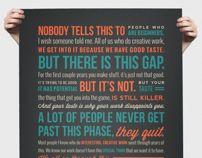 Ira Glass Quote Poster by Nikki Hampson, via Behance