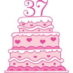 37th_anniversary_cake_greeting_card.jpg?height=250&width=250 ...