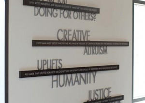 Many of Dr. King's most famous quotations grace the walls of King ...