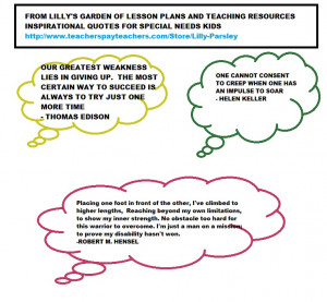 QUOTES FOR SPECIAL NEEDS STUDENTS, PARENTS AND TEACHERS