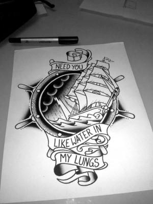 Old school sailor/memorial tattoo design. #tattoo #tattoos #ink #inked
