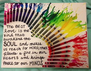 DIY crayon art with The Notebook quote!