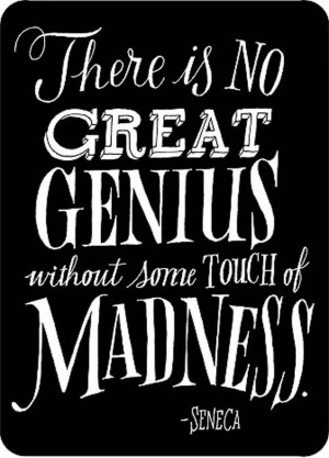 ... Crazy . . . or at least #Madness Seneca | #Stoicism at its finest
