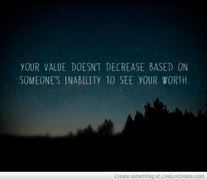Self Worth Quote