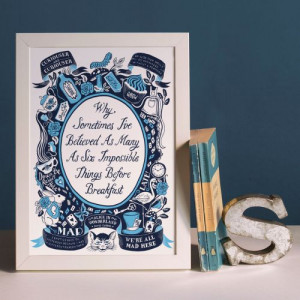 Alice In Wonderland, Famous Quotes Print Alice In Wonderland, Famous ...