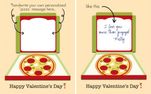 Handwrite your own cheesy valentine with this printable pizza ...