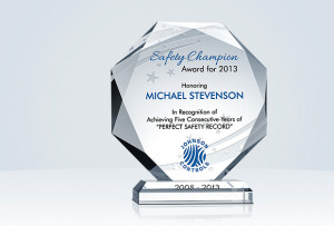 ... Recognition » Safety Achievement » Octagon Safety Recognition Plaque
