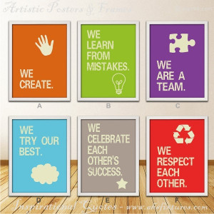 Great Company Teamwork Inspirational Quotes Posters With Artistic ...