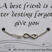 Infinity and Anchor Charm Anklet and Quote Inspirational Card ...