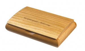 HandMade Engraved Top Jewelry Box Cherry Wood USA08 Series