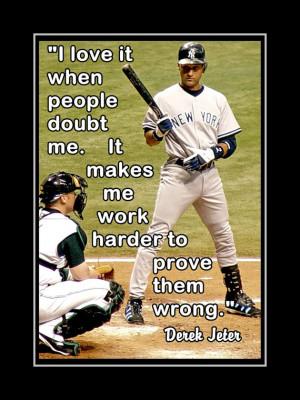Baseball Poster Derek Jeter Yankees Photo Quote Wall Art Print 5x7 ...