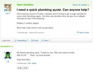 quick plumbing quote