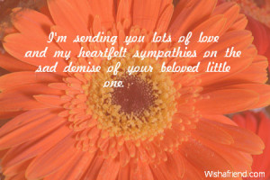 Sympathy Quotes Death Loved One: Sympathy Messages For Loss Of Child ...