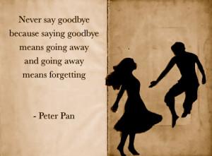 goodbye, neverland, peter pan, quote, sad