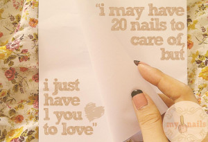 ... least, i wanna remind you and explain how can i love my nails alot