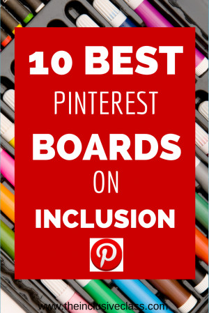... classroom, I would like to give you a list of my favorite Inclusion