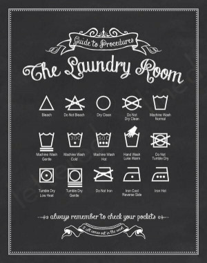 Printable: Know your laundry signs