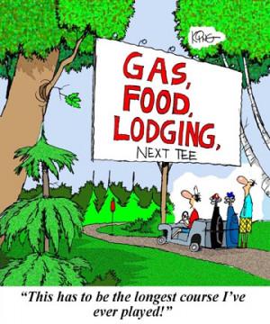 Golf Cartoon: Long Golf Course - Jerry King