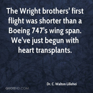 The Wright brothers' first flight was shorter than a Boeing 747's wing ...
