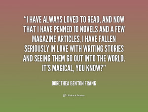 have always loved to read, and now that I have penned 10 novels and ...