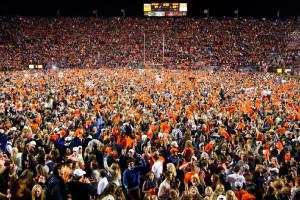 Auburn fans celebrate
