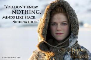 Ender's Game of Thrones – Ygritte | EnderWiggin.net - Ender's Game