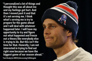 Tom Brady Is Not Interested Right Now In How The Balls Got Deflated ...