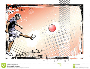 Royalty Free Stock Images: Kickball poster background