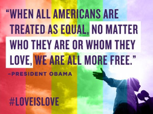 ... are or whom they love, we are ALL free. #LGBT #Equality #GayRights