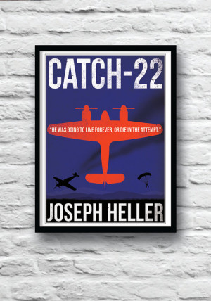 Catch 22, Literature Poster, Movie poster, Quote print, Wall Decor ...