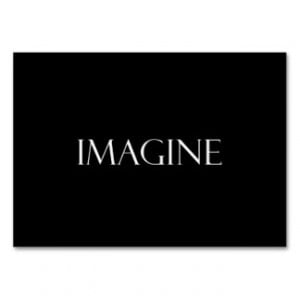 Imagine Quotes Inspirational Imagination Quote Large Business Cards ...