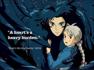 Howl's Moving Castle Quote.