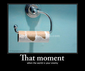 ... when the world is your enemy. Download Empty toilet paper roll photo