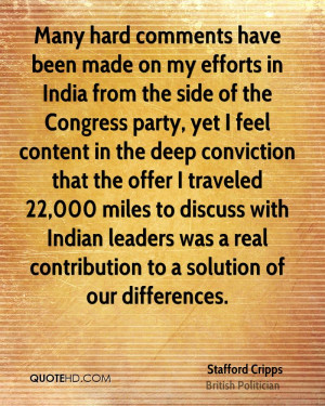 side of the Congress party, yet I feel content in the deep conviction ...